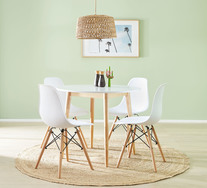 Toto 5 Piece Dining Set with Eames Chairs