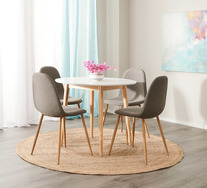 Toto 5 Piece Dining Set with Samba Chairs