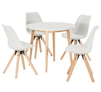 Toto 5 Piece Dining Set With Dimi Chairs