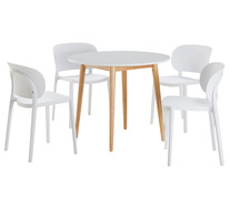 Toto 5 Piece Dining Set With Heike Chairs