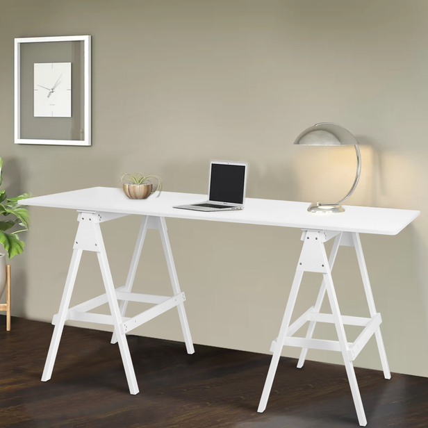 Wooden Trestle Desk