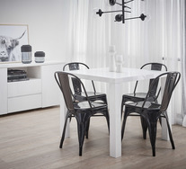 Verona 5 Piece Dining Set with Replica Tolix Chairs