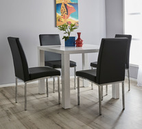 Verona 5 Piece Dining Set with Eve Chairs