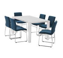 Verona 7 Piece Dining Set with Esp Chairs