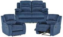 Venice 2 Seater Recliner & 2 Reclining Armchairs Sofa Set