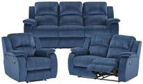 Venice 3 & 2 Seater Reclining Sofas Plus Armchair Sofa Set