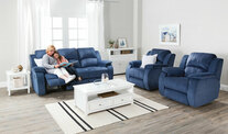Venice 3 Seater Recliner & 2 Reclining Armchairs Sofa Set