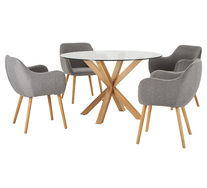 Waverley 5 Piece Dining Set With Nicki Chairs