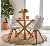 Waverley 5 Piece Dining Set With Dimi Chairs