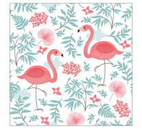 Whimsical Flamingos Wall Art