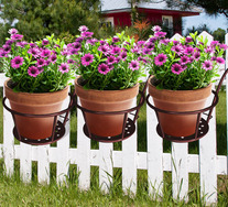 Set Of 3 Wheeler Plant Baskets