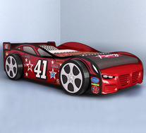Zion 41 Race Car Kids Single Bed