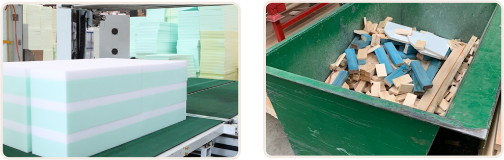 Foam and timber recycling